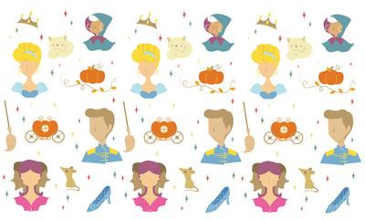 fairy tale pattern cartoon vector