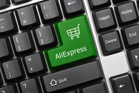 Conceptual keyboard - AliExpress (green key)