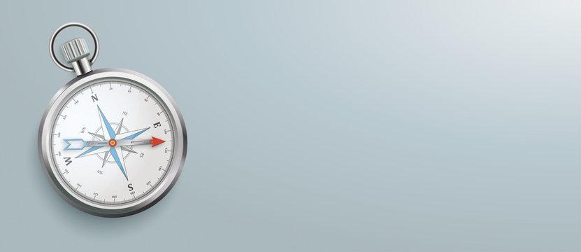 Compass Gray Background Header