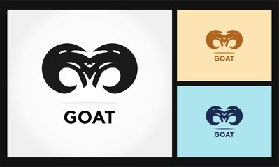 horn abstract icon goat logo
