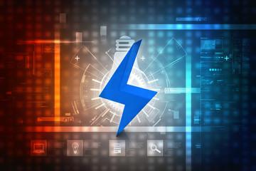 3d illustration power symbol