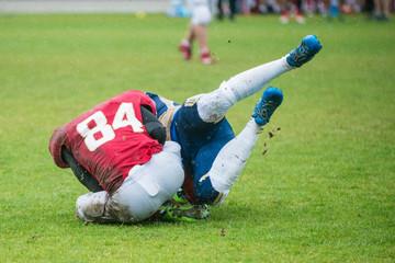 Fototapeta Amerykański futbol gracz w akcji obraz