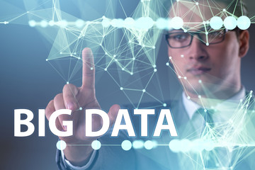 Big data concept with data mining analyst