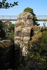 Saxon Switzerland, Elbe Sandstone Mountains, rock formation, bridge, Germany