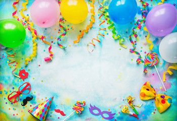 Birthday, carnival or party background