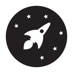 Rocket icon. vector rocket with stars. Simple sign illustration. rocket symbol design. Can be used for web, print and mobile