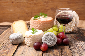 cheese and wine glass