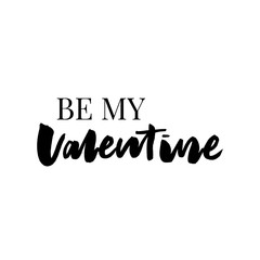Be my Valentine text. Valentine's typography. Vector illustration of Valentine Greeting Card with heart. Black and golden typography. Valentine's Day slogan