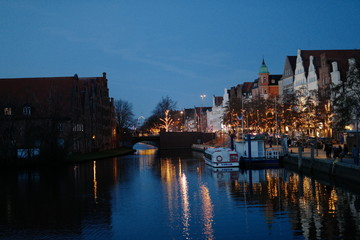 Luebeck at night