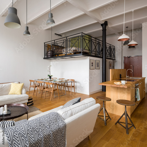 Studio flat with mezzanine\