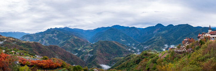 Nature landscape background of mountain view from Taiwan 3