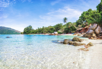 Panorama of asian paradise beach in Thailand Wall mural