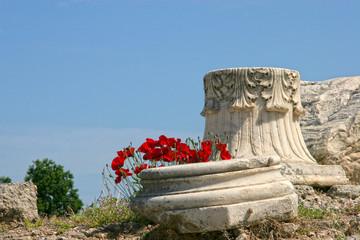 Ancient ruins of Corinth, Greece.