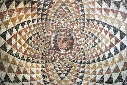 Mosaic of Dionysos, from the ruins of Corinth, Greece.