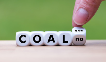 "Using coal for energy? Hand flips a dice and changes the word ""yes"" to ""no"""