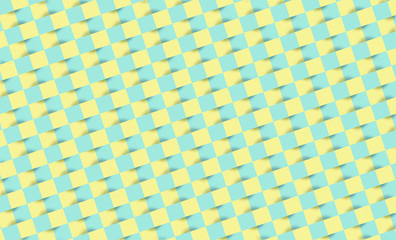Mosaic pattern with pastel color squares.