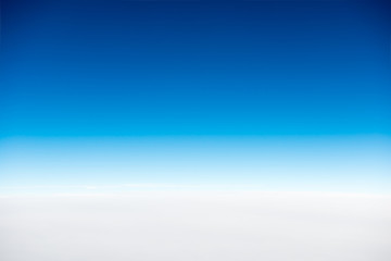 White clouds on blue clear sky for nature background