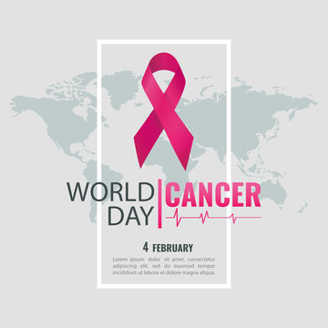 Vector illustration on the theme World  Cancer Day