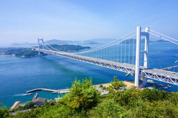 岡山県から見た瀬戸大橋