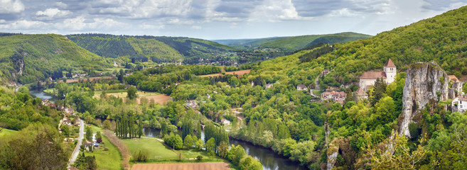 Valley of Lot river, France