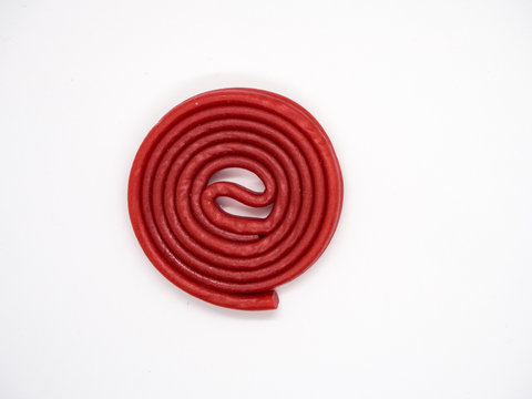 Red licorice isolated