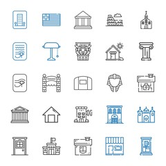 architecture icons set