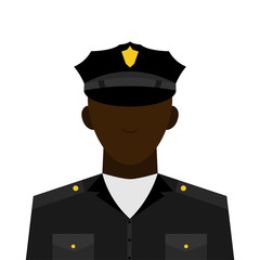 icon, vector illustration. profession concept of a policeman man