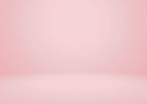 Empty pink studio room vector background. Can be used for for display or montage your products