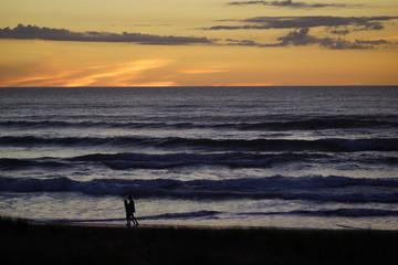 Piha beach sunset