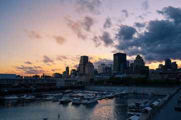 Wall Murals Northern Europe Sunset on Montreal