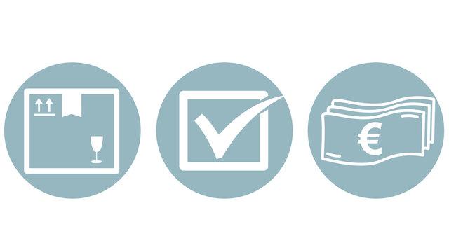 icon on white background for onlineshop / woocommerce