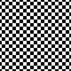 Vector illustration of the seamless pattern of black and white checkered square abstract background.