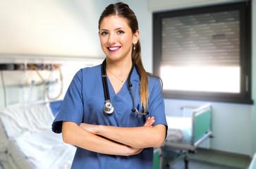 Smiling nurse portrait