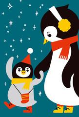 ペンギンの親子