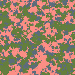 UFO camouflage of various shades of blue, green and pink colors