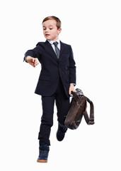 Junge als Business Mann