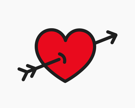 Heart hit by an arrow icon.