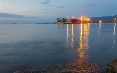 Sea port in Batumi