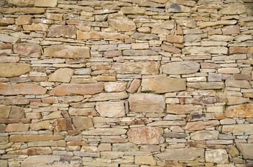Old sandstone wall closeup