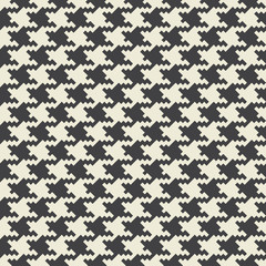 Vector houndstooth fabric seamless pattern. Textile ornament in two colors