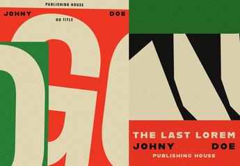 3 Retro Book Cover Layouts