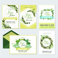 Wedding invite, invitation menu