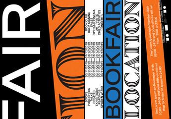Book Fair Poster Layout Set