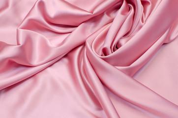 Silk fabric, light pink satin fabric