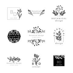 Botanical Logo Design Templates