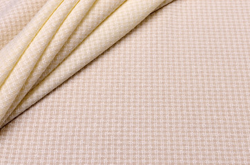 Wool with elastane and viscose ivory, cage