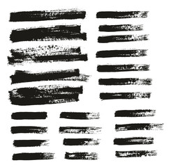 Paint Brush Thin Background & Lines High Detail Abstract Vector Background Mix Set 132
