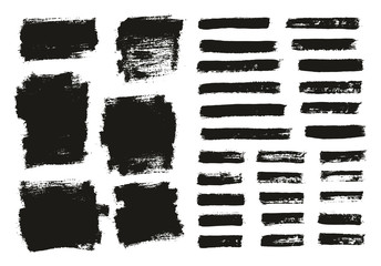 Paint Brush Thin Background & Lines High Detail Abstract Vector Background Mix Set 127