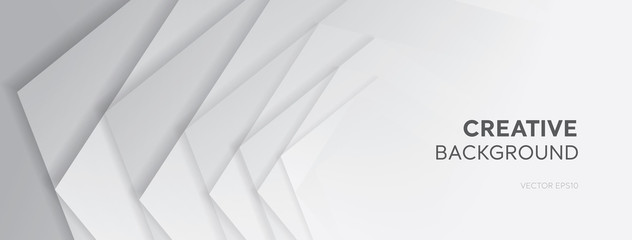 White gray abstract gradient creative design banner background