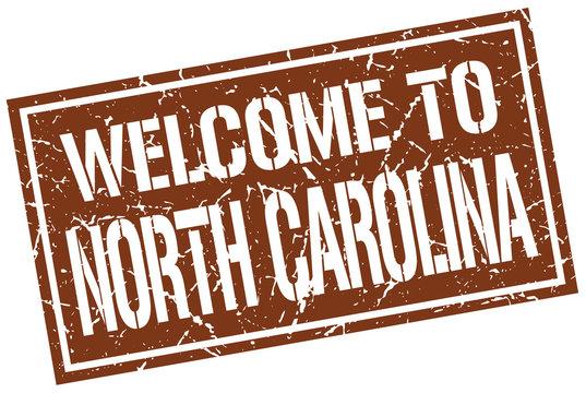 welcome to North Carolina stamp